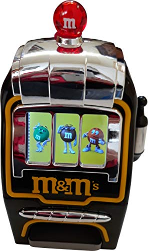 M&M Electronic Slot Machine Candy Dispenser Black Batteries not included