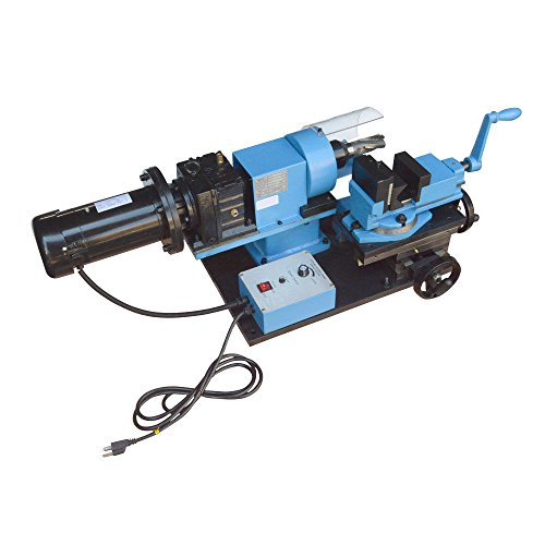 1 HP Electric Tube Pipe Notcher 1/2 to 2'' End Mill V-Block Rotary Vise 0-250 RPM - 110 Volt by DBM IMPORTS