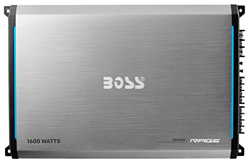 BOSS AUDIO RGF1600 Rage 1600-Watt Full Range, Class A/B 2 to 8 Ohm Stable 4 Channel Amplifier with Remote Subwoofer Level Control