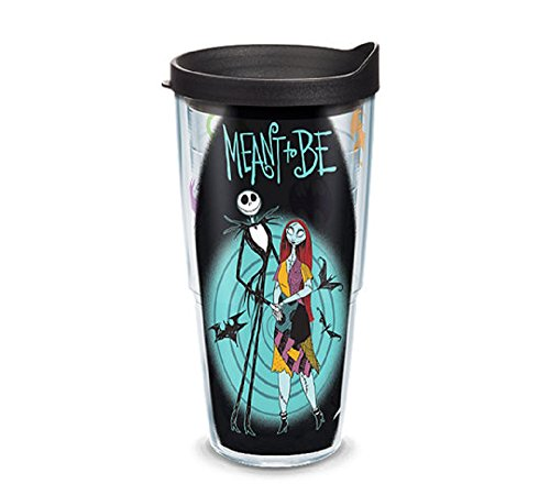 Tervis 1267983, Jack and Sally from Disneys Nightmare Before Christmas adorn a tumbler sure to delight fans throughout the holidays. , Black
