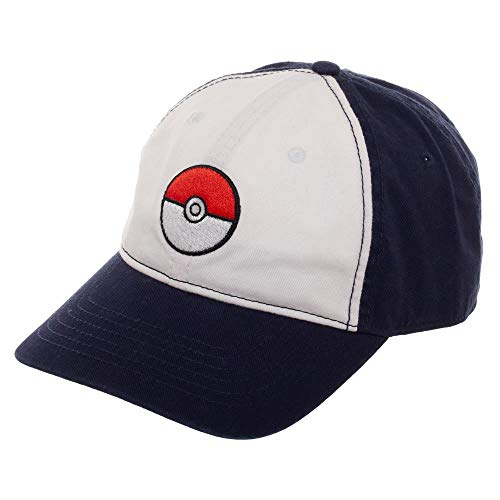 Pokemon Pokeball Adjustable Hat with Pre-Curved -
