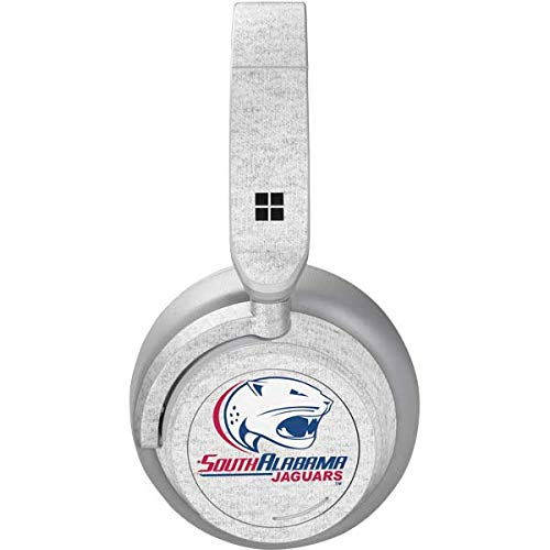 Skinit South Alabama Jaguars Heather Grey Surface Headphones Skin - Officially Licensed Learfield Collegiate Audio Decal - Ultra Thin, Lightweight Vinyl Decal Protection