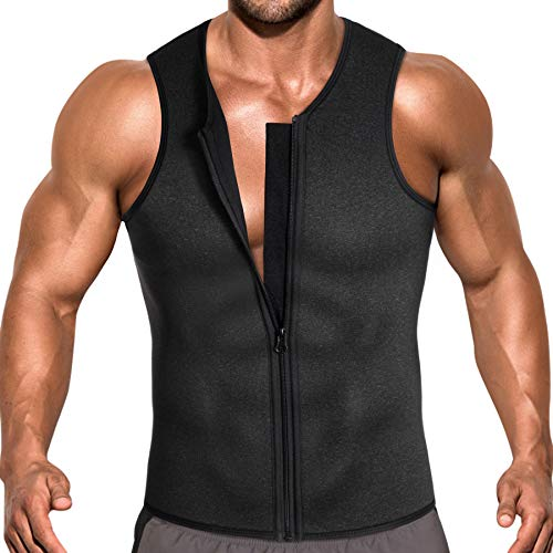 5ba64577c1964 Men Waist Trainer Vest for Weight Loss Hot Neoprene Corset Body Shaper  Zipper Sauna Tank Top Workout Shirt - Buy Online in Oman.