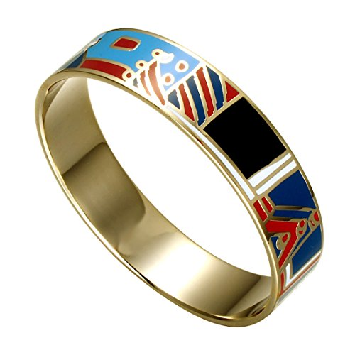 Fashionvare Women's Gold Plated Enamel Bracelet - Blue ()