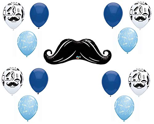 LITTLE MAN MUSTACHE BABY SHOWER Balloons Decorations Supplies13 pieces by Anagram