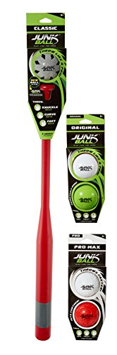 (Little Kids Junk Ball Learn to Hit and Pitch Like the Pros Classic Plastic Baseball Bat and Ball Set Includes BONUS 2 Extra Original Junk Balls and 2 Extra Pro)