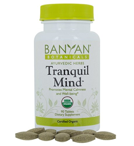 Banyan Botanicals Tranquil Mind - USDA Organic - 90 tablets - Soothes Nervousness & Stress - Supports a Calm Mind* (Banyan Bay)