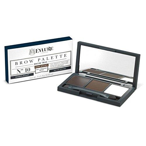 の眉パレット、ダークブラウン1.3グラム x4 - Eylure Brow Palette, Dark Brown 1.3g (Pack of 4) [並行輸入品] B0727R5LCY