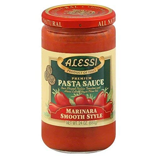 Alessi Smooth Marinara Pasta Sauce, 24 Ounce (Pack of 2)