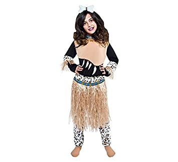 Disfraz de Guerrera Zulú para niña: Amazon.es: Juguetes y juegos