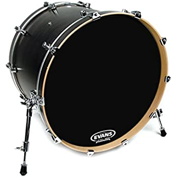evans resonant black bass drum head 18 inch musical instruments. Black Bedroom Furniture Sets. Home Design Ideas