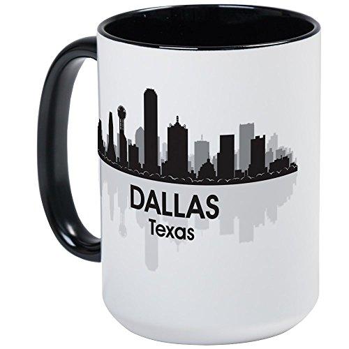 CafePress - Dallas Skyline Large Mug - Coffee Mug, Large 15 oz. White Coffee Cup -