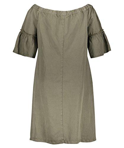 SAMOON Damen Offshoulder-Kleid Kurzarm - Plus Size Sand (21) 9Bm08EpaLf