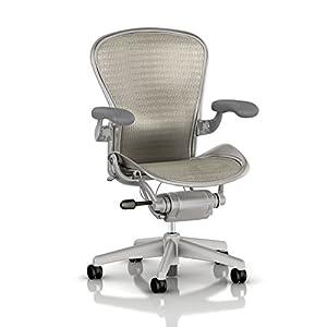 Herman Miller Classic Aeron Task Chair: Standard Tilt   Fixed Vinyl Arms    Standard Carpet Casters