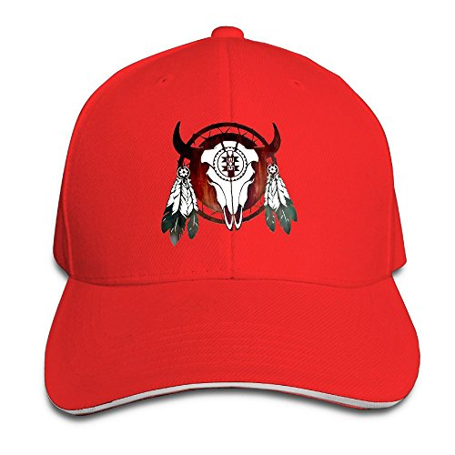 (Oopp Jfhg Baseball Cap Native American Buffalo Skull Arrowhead Indian Unisex Dad Hat Caps)
