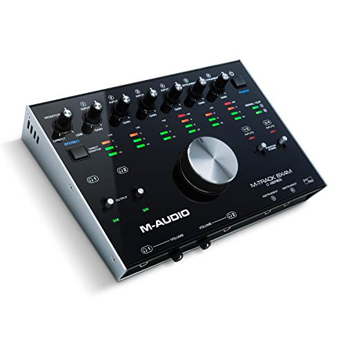 M-Audio M-Track 8X4M | Compact USB / USB-C 8-In/4-Out 24/192 USB Audio/MIDI Interface With Zero Latency Monitoring, Rugged Metal Chassis And Pro-Grade Software Suite