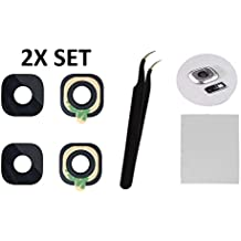 2X Back Rear Camera Glass Lens Cover Replacement + Tool + Guide with TIPS + Adhesives Preinstalled + Tempered Glass + Clean Cloth For Samsung Galaxy S7 G930 / S7 Edge G935 ( Any Carriers )