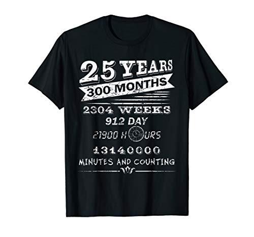 Vintage 25th Wedding Anniversary T-Shirt - 25 Years Tee Gift ()