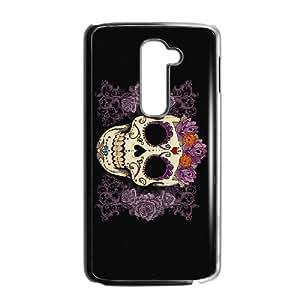 Sugar Skull Cover 009 LG G2 Cell Phone Case Black TPU Phone Case RV_654661