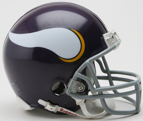 Riddell NFL Minnesota Vikings 1961-1979 Throwback Replica Vsr4 Mini Football Helmet