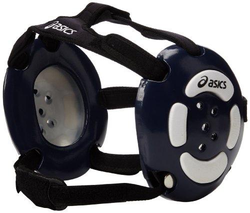 ASICS Aggressor Earguard, Navy/White, One Size - Foam Guard Ear Headgear