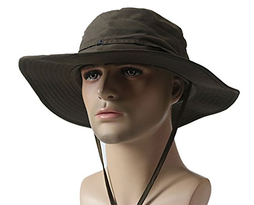Cotton Chin Cord - Men's Brushed Cotton Twill Aussie Side Snap Chin Cord Hat(Army Green)