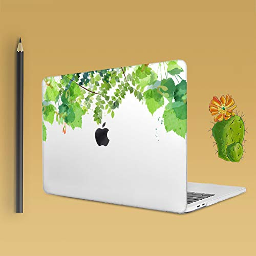 Batianda Tropical Plants Green Grass Floral Design Protective Hard Case Cover with Keyboard Skin for MacBook Air 13-Inch Model Number: A1369/A1466 by Batianda (Image #4)