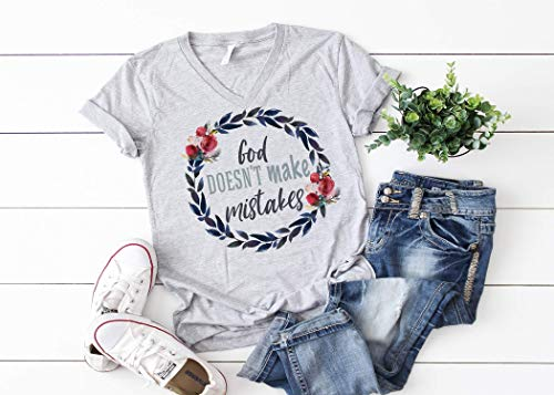 God Doesn't Make Mistakes Women's T shirts Women's Tees Ladies T Shirt Women's Shirts Mom Shirts Mom Gift Mothers Day Shirts Shirts for Mom