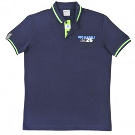 SSC Napoli Polo Azul Marino Macron (Size M): Amazon.es: Deportes y ...