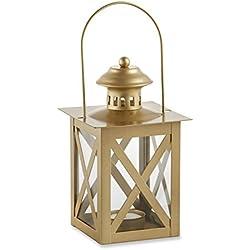 Kate Aspen Classic Lantern, Gold