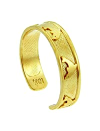 Bold Dolphin Yellow Gold Toe Ring (10K Gold)