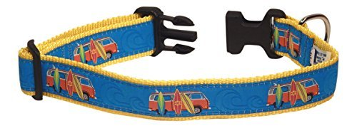 Dog Surfboard - Preston Surfboards Dog Collar, MEDIUM and LARGE DOGS, 1 1/4 Inch Width (MEDIUM, 1 1/4 inch Widtrh)