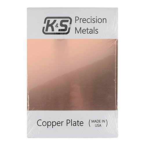 K&S Precision Metals 6605 Copper Etching Plate, 0.050