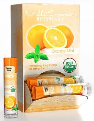 Mill Creek Lip Balm Orange Mint USDA Organic - 0.15oz / (Best Mill Creek Lip Balms)