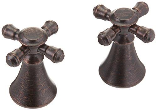 (Delta Faucet H295RB Cassidy Two Cross Bath Faucet/Bidet Handle Kit, Venetian Bronze)