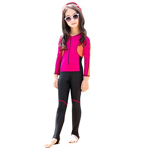 6327d0b9f5337 miaoshop Kids Long Sleeve Wetsuit Girls One Piece Surfing Swimsuit with UV  Protection for Boys