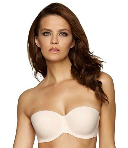 Felina Women's Hint Of Skin Seamfree Strapless Contour Bra,Bare,34B