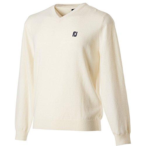 フットジョイ FOOTJOY メンズ ゴルフ ウエア Vネックセーター #84919 FJ-F17-M62 ホワイト