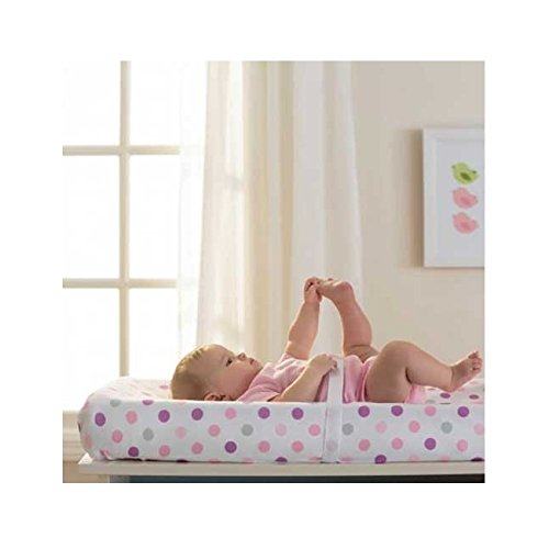 BreathableBaby Changing Pad Cover, Pink Mist Dot - 1