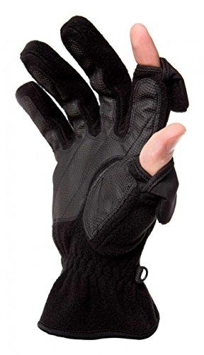 Flair Fleece Jacket - Freehands Mens Fleece Gloves - Black, Medium