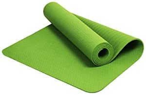 BalanceFrom GoYoga Premium 1/4-Inch Slip Resistant and Waterproof Yoga Mat with Carrying Strap (Green)