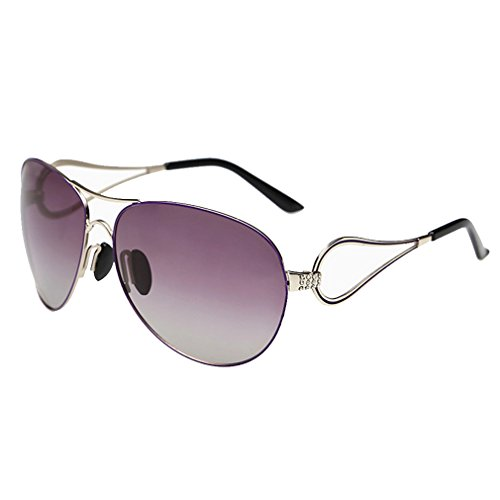 A-Royal Womens Fashion Elegant Gradient Lens Big Frame Polarized - Sunglasses Polarized H2optix