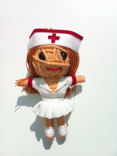 Naughty Nurse Voodoo String Doll Keychain NEW -