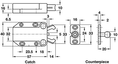 English Manual Mc-37 Non-Magnetic Touch Latch Safe Push Latch Black by Sugatsune