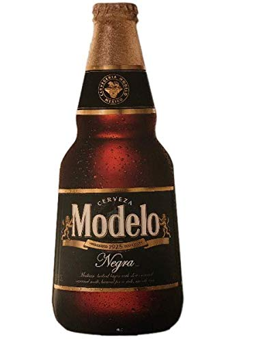 Modelo Negra Beer Bottle Metal Wall Hanging Tin Tacker Decoration Sign