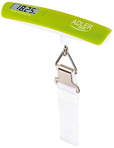 Adler AD 8143 - Báscula para pesar maletas, color blanco y verde