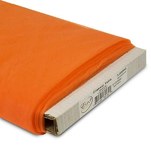 Orange Bolt - Expo International 54-Inch Classic Nylon Tulle Fabric, 25-Yard Bolt, Orange