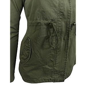 makeitmint Women's Zip Up Military Anorak Jacket w/Hood Large YJH0018_06Olive