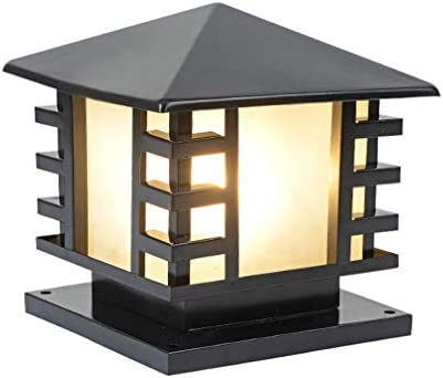 LYXJX Lámpara de Sobremuro para Exteriores Farola de Exterior, Lámpara para Pilar, Iluminación E27 Para Exteriores e Impermeables, Luces Decorativas para Jardín Y Terraza, Patio, Muro, Escalera,Blackb: Amazon.es: Iluminación