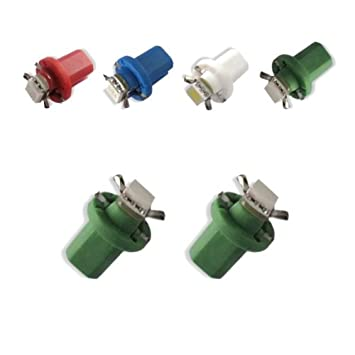 Akhan 85G - LED Lámpara Verde T5 B8.5D BAX10D 12V lámpara del instrumento del